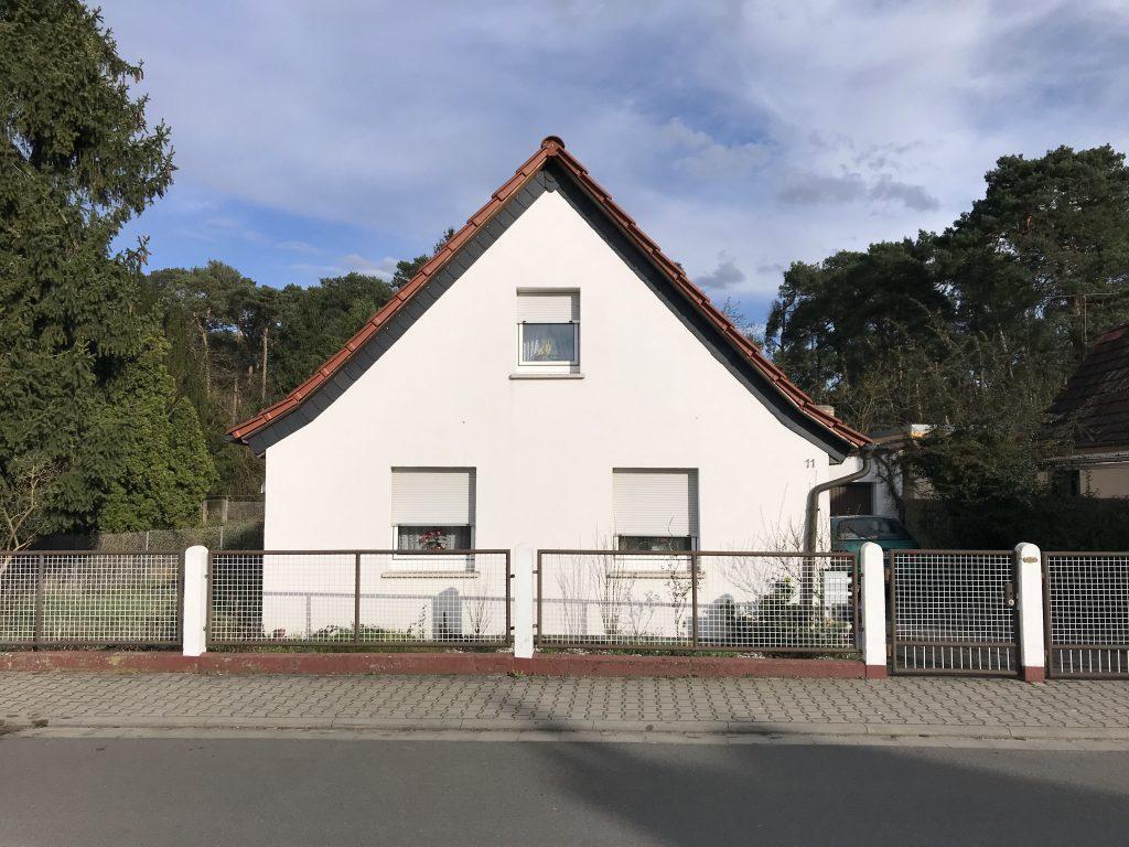 Ein früheres Arbeiterhaus im heutigen Alten Lorscher Weg.