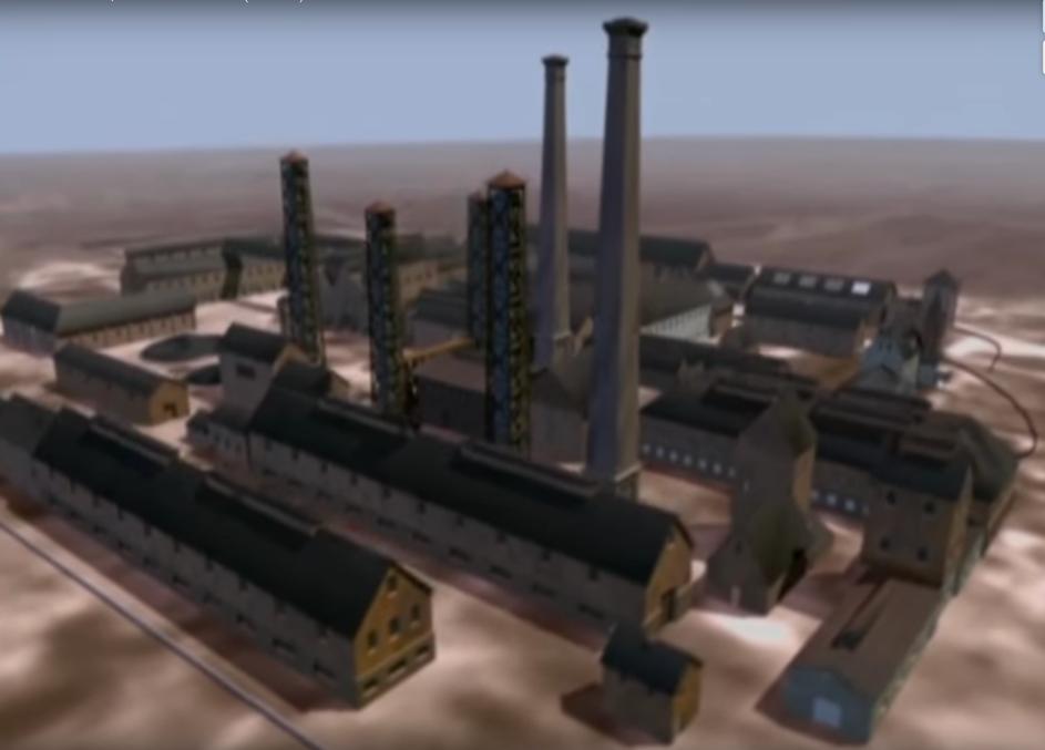 Chemische Fabrik, Animation aus einem Imagefilm der HIM.